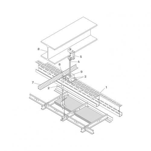 Sistema de soportes de gran luz modelo 6500