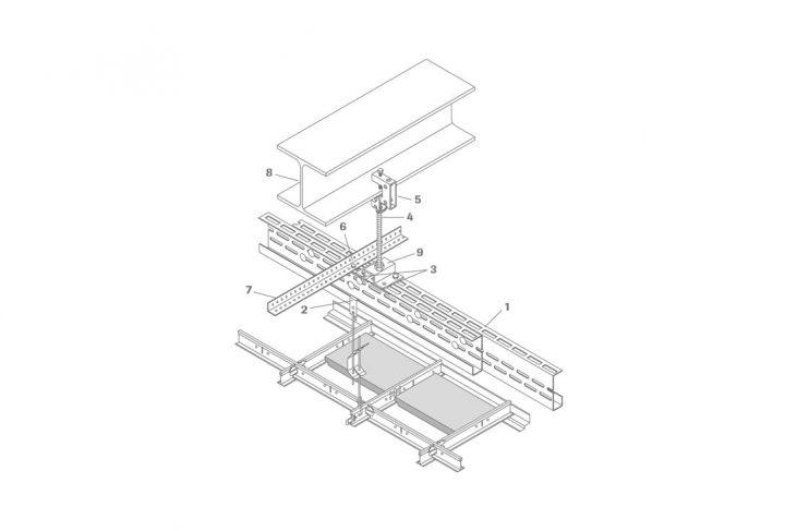Detailaufnahme Sistema de soportes de gran luz modelo 6500